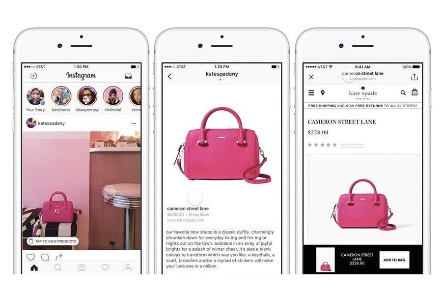 tag shopping instagram esempio